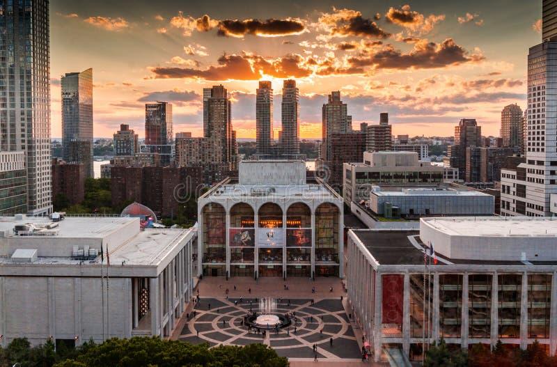 Оперный театр NYC Линкольна разбивочный столичный стоковые фото