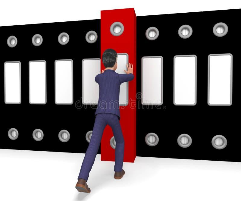 Опиловка бизнесмена показывает советника и привычки дел бесплатная иллюстрация