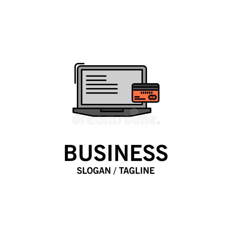 Оплата, дело, компьютер, кредитная карточка, шаблон логотипа дела онлайн-платежа r иллюстрация штока
