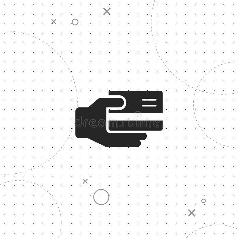 Оплата кредитной карточки, vector самый лучший плоский значок иллюстрация вектора