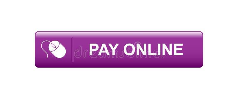 Оплата онлайн теперь иллюстрация вектора