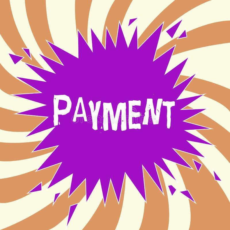 Оплата текста почерка Процесс смысла концепции оплачивать кто-то или что-то дают приобретение законцовки денег иллюстрация штока