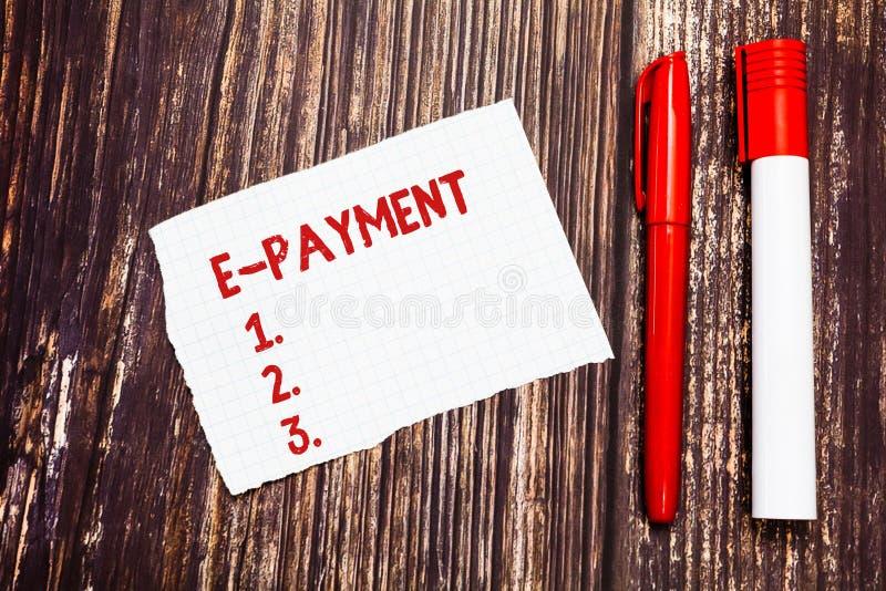 Оплата текста e почерка Путь смысла концепции оплачивать для обслуживаний товаров электронно вместо сорванного пробела наличных д стоковые изображения