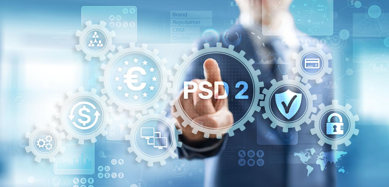 Оплата PSD2 обслуживает директивный открытый креня протокол безопасности поставщика услуг оплаты стоковая фотография