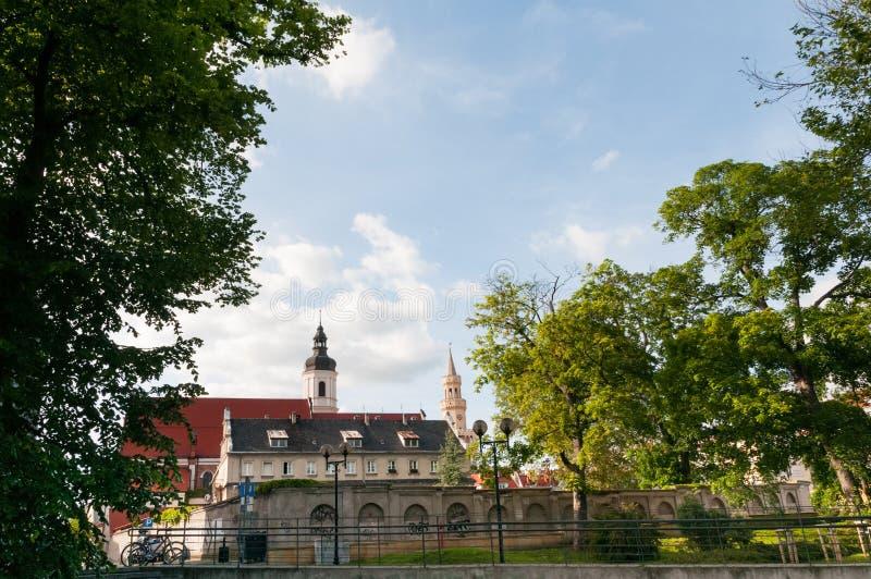Ополе, Оппельн, город, расположенный на юге Польши на реке Одер стоковые изображения