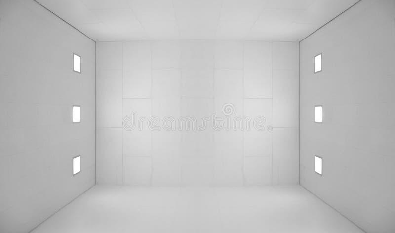 опорожните белизну квадрата комнаты светов стоковая фотография