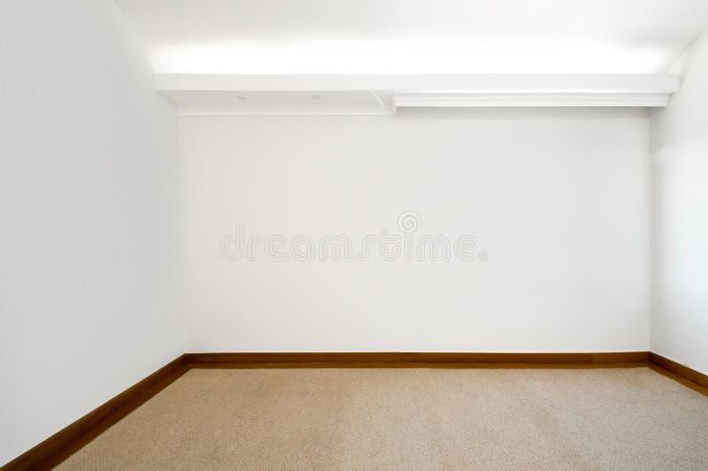 Опорожните белую комнату стоковые фотографии rf