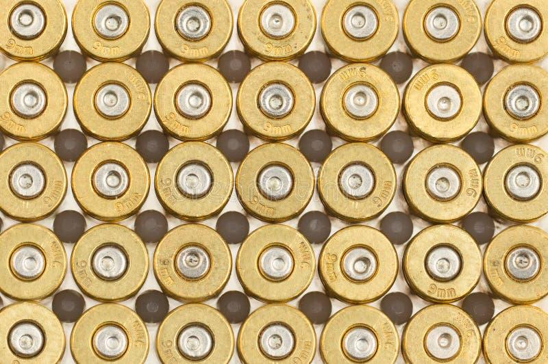 Опорожните кожухи пули 9mm стоковые фото