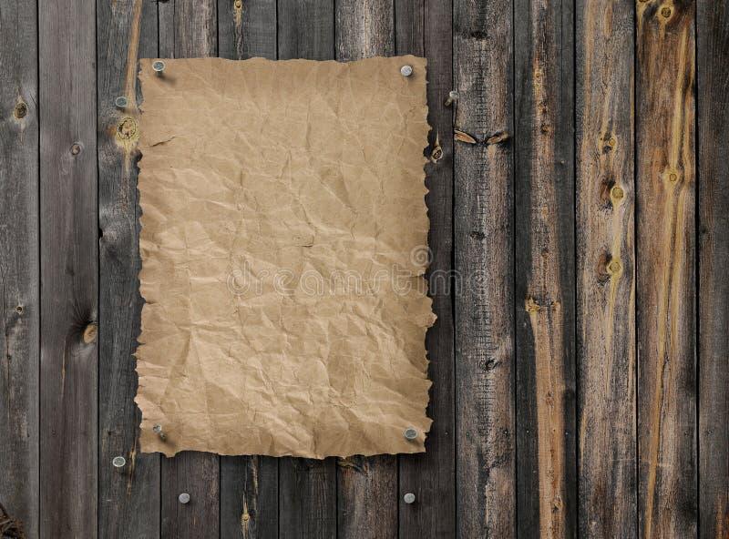 Опорожните, который хотят плакат на выдержанной стене древесины планки стоковые фото