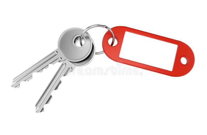 Опорожните кольцо для ключей ярлыка иллюстрация штока