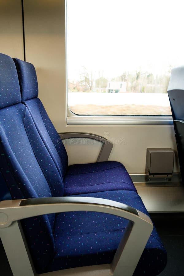 Опорожните места поезда стоковая фотография rf
