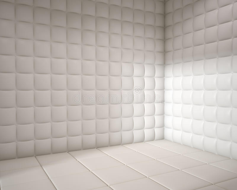 опорожните проложенную белизну комнаты иллюстрация вектора