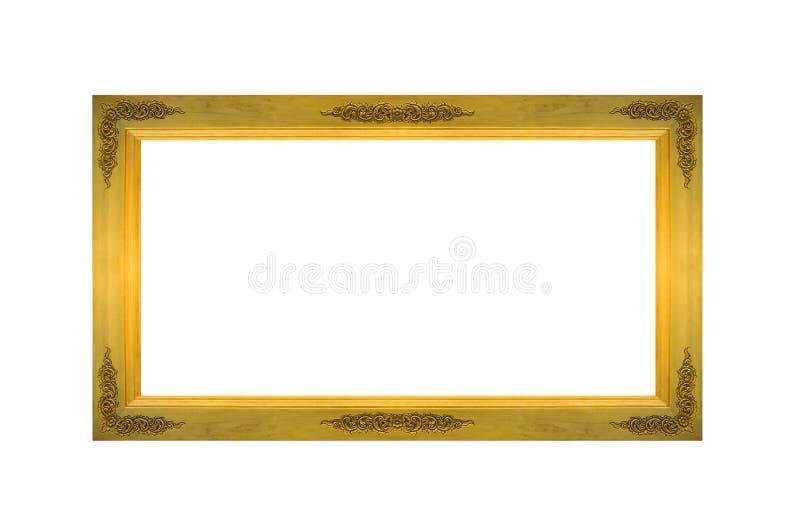 Опорожните рамку старого прямоугольника деревянную с Copyspace для того чтобы input фото или текст изолированные на белой предпос стоковые фотографии rf