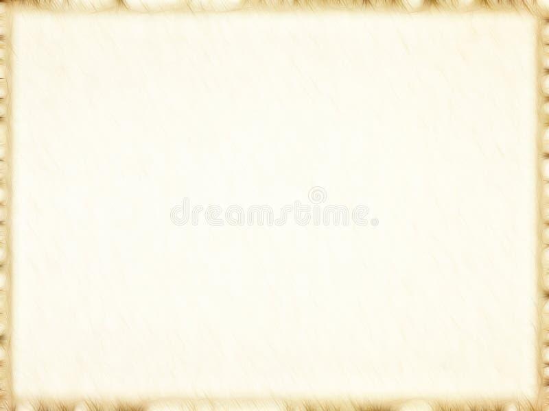 Опорожните старую бумажную рамку фото с темной границей. Предпосылка. стоковое фото rf