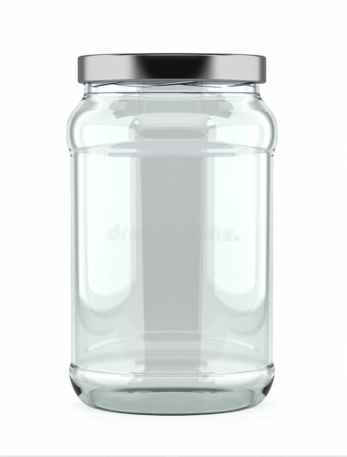 опорожните стеклянный опарник стоковая фотография rf