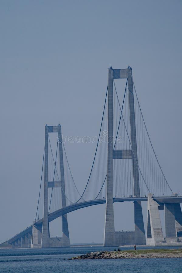 Опоры большого моста пояса, Дании стоковая фотография rf