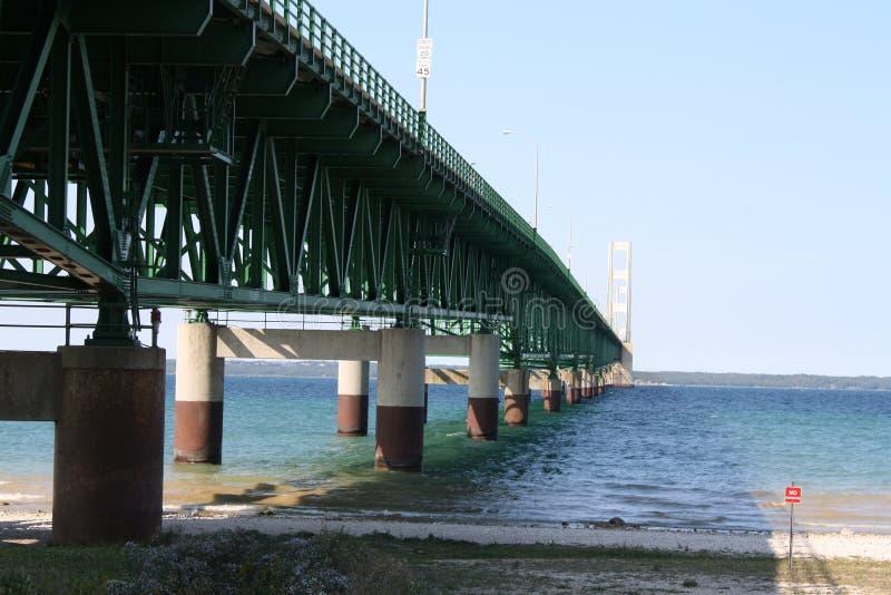 Опоры моста Mackinaw стоковое изображение