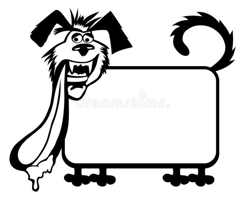 дополнительный иллюстратор рамки формы eps самана включает вектор Собака иллюстрация вектора