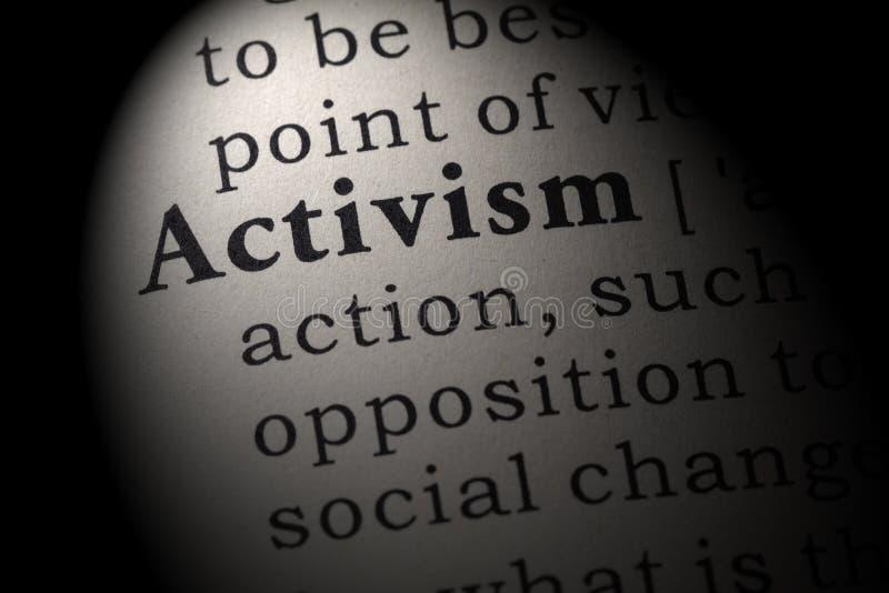 Определение активизма стоковая фотография rf