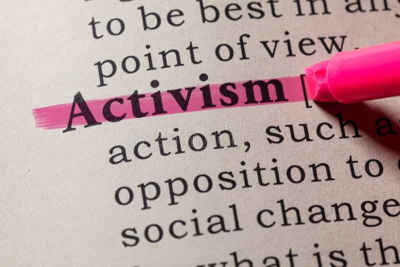 Определение активизма стоковые изображения