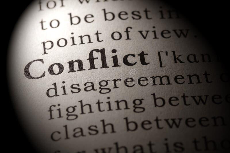 Определение конфликта слова стоковые фото