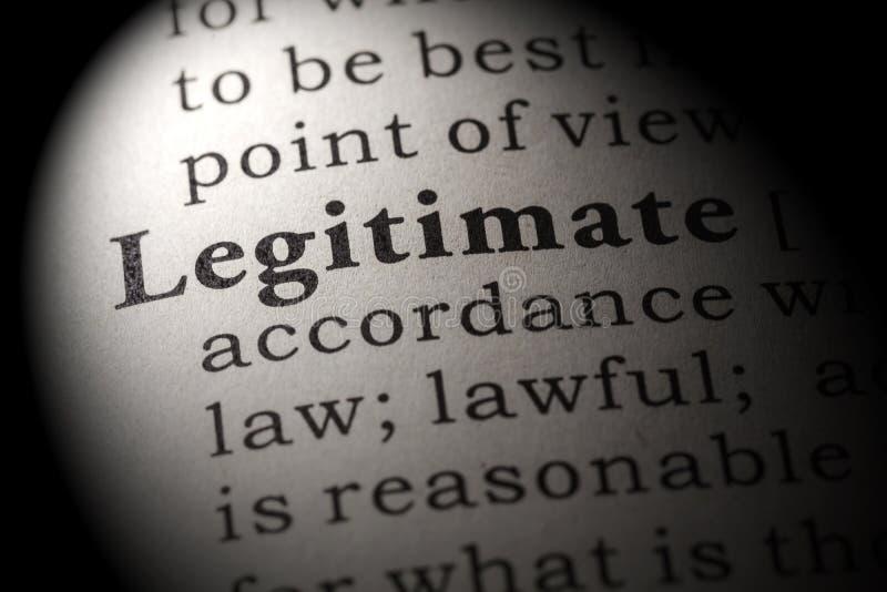 определение слова законного стоковое фото