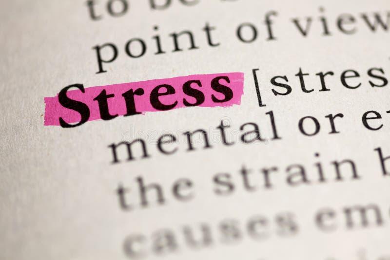Определение стресса слова стоковые изображения rf