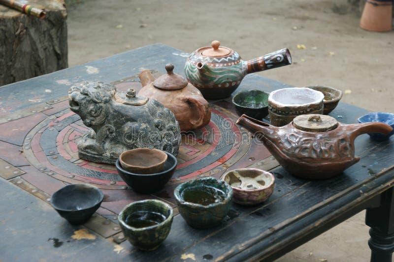 Определенный комплект чая стоковое фото