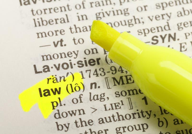 Определение закона стоковое фото