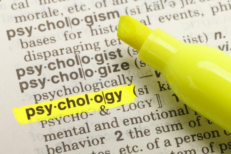 Определение психологии стоковые изображения rf