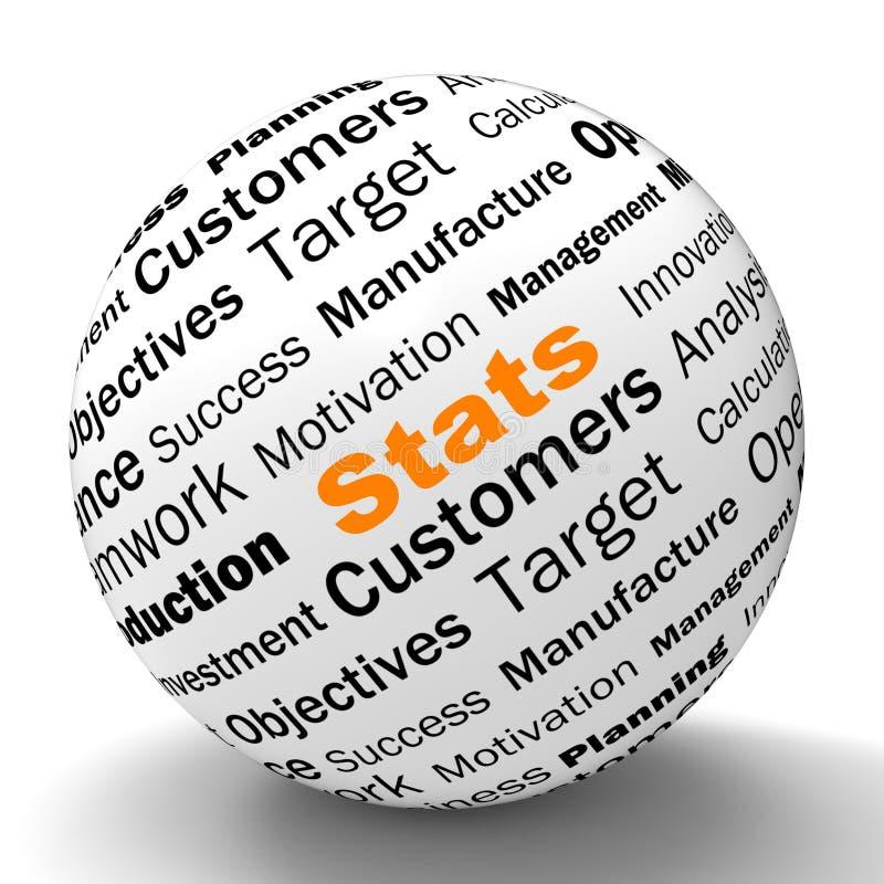 Определение сферы Stats показывает бизнес-отчеты иллюстрация штока