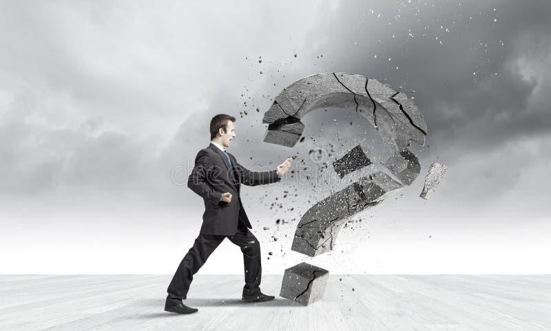 Download определенный бизнесмен стоковое изображение. изображение насчитывающей знак - 41650207