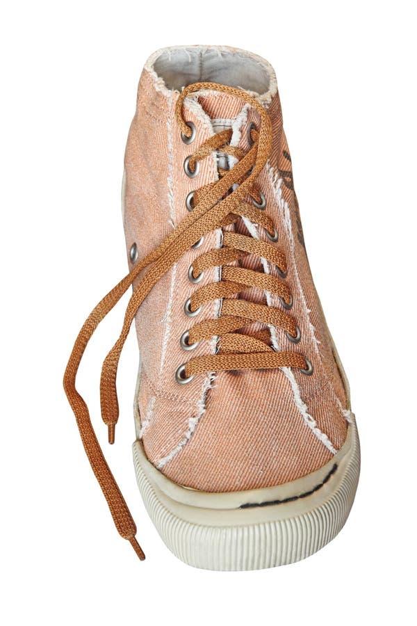 Определите ультрамодный ботинок спортзала изолированный на белой предпосылке стоковые изображения