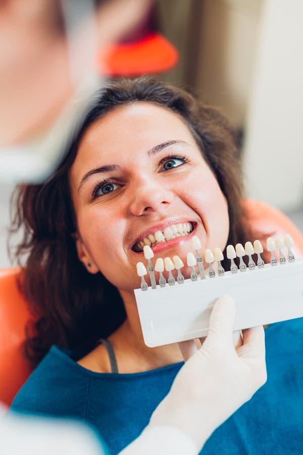 Определять цвет зубов стоковые фотографии rf