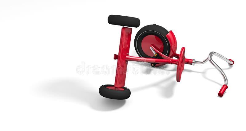 опрокинутый трицикл бесплатная иллюстрация