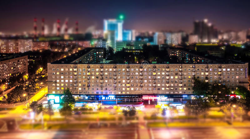 Опрокиньте и перенесите взгляд советского бульвара стиля в Москве сверху стоковое фото