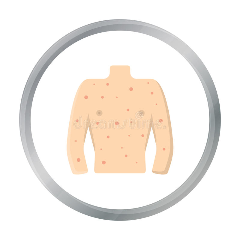 Опрометчивый шарж значка Определите больной значок от большой беды, шарж заболеванием иллюстрация штока