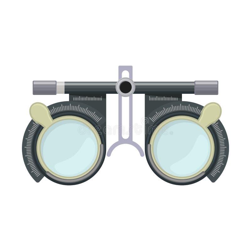 Оптика и визуальная остроконечность иллюстрация штока