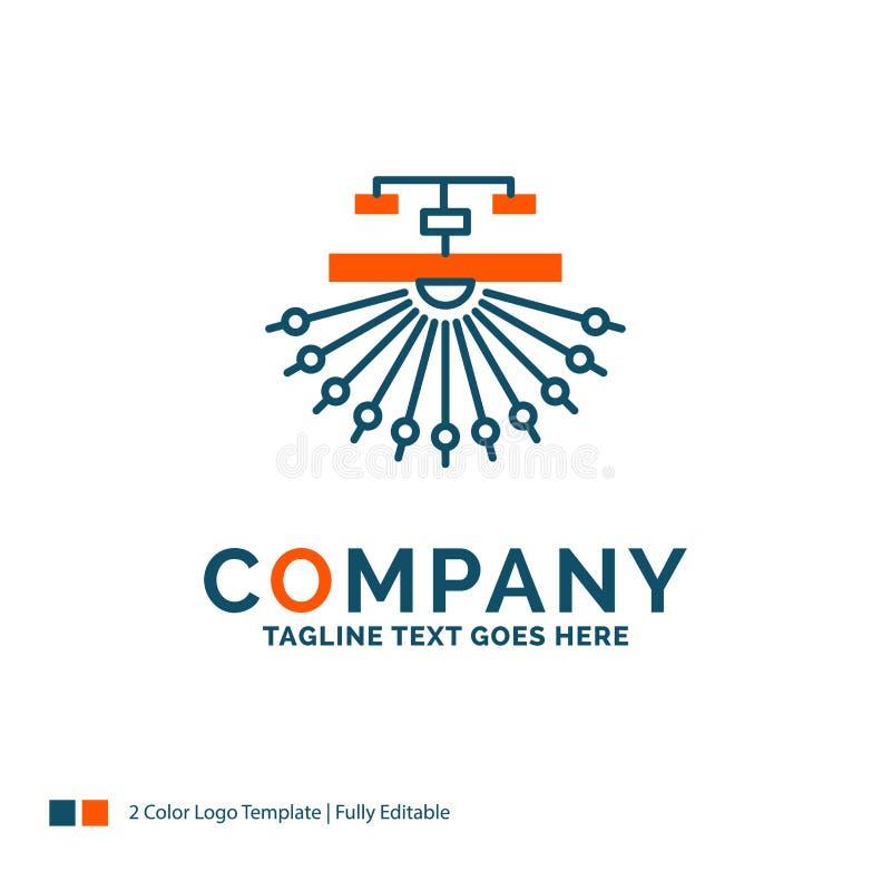 оптимизирование, место, место, структура, дизайн логотипа сети Синь и o бесплатная иллюстрация
