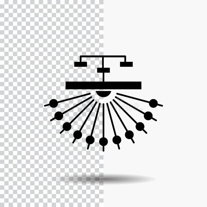 оптимизирование, место, место, структура, значок глифа сети на прозрачной предпосылке r иллюстрация штока