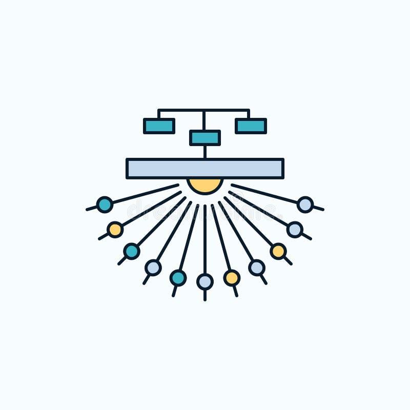 оптимизирование, место, место, структура, значок сети плоский r r иллюстрация штока