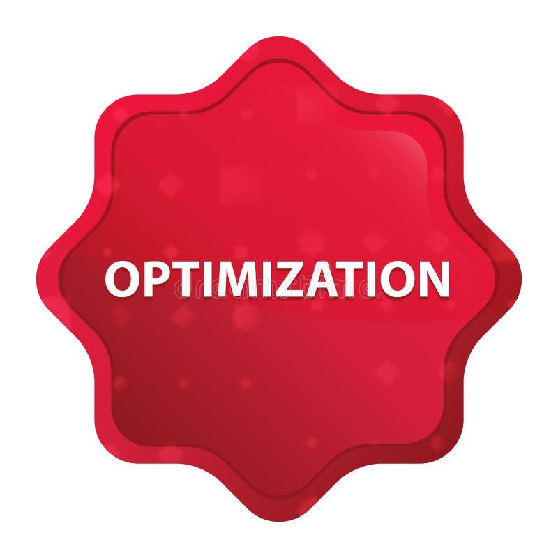 Оптимизирование туманное подняло красная кнопка стикера starburst бесплатная иллюстрация