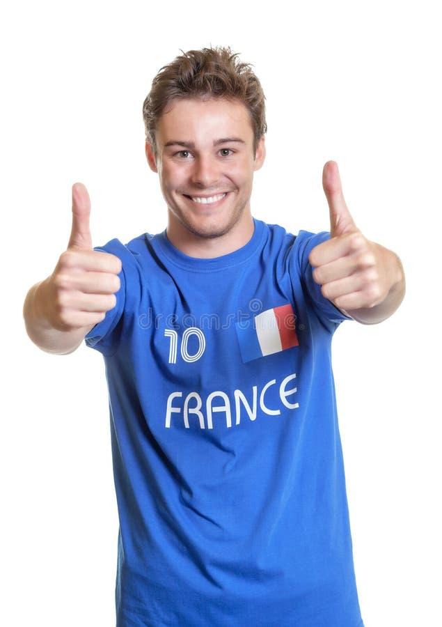 Оптимистический французский поклонник футбола стоковые фото