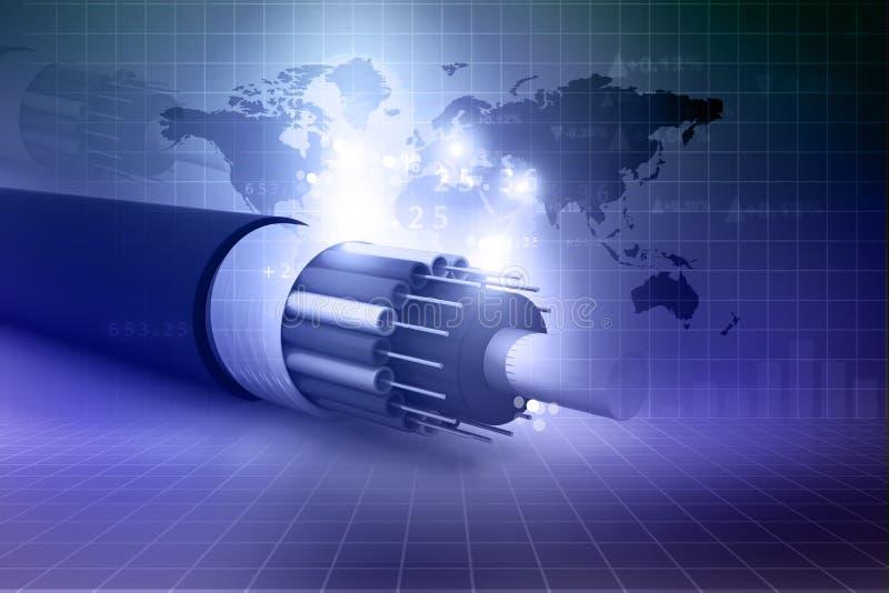 Оптический кабель волокна бесплатная иллюстрация