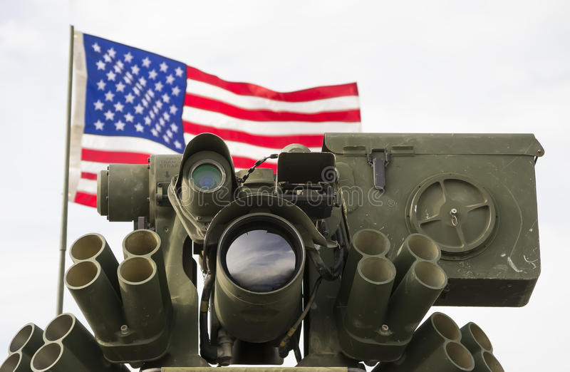 Оптически система обнаружения и захват цели стоковые фото