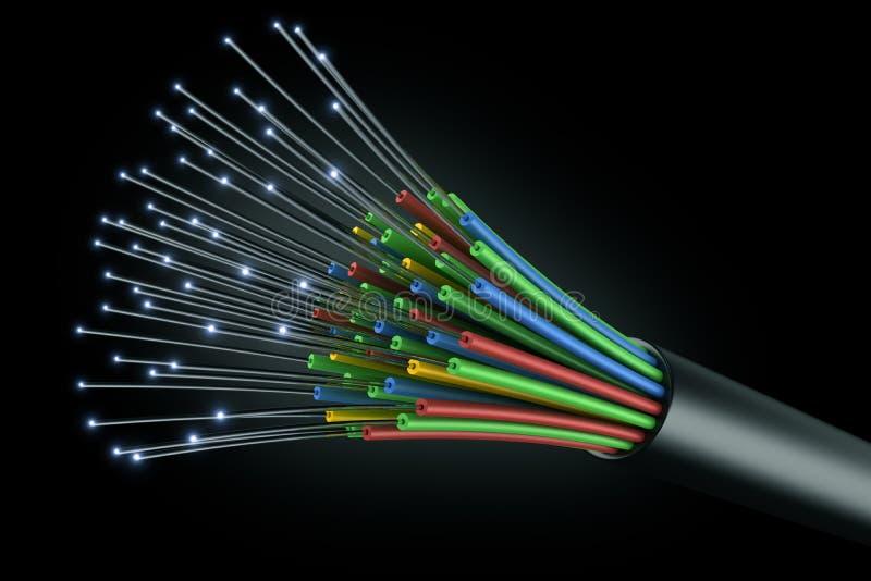 оптическое волокно кабеля иллюстрация штока