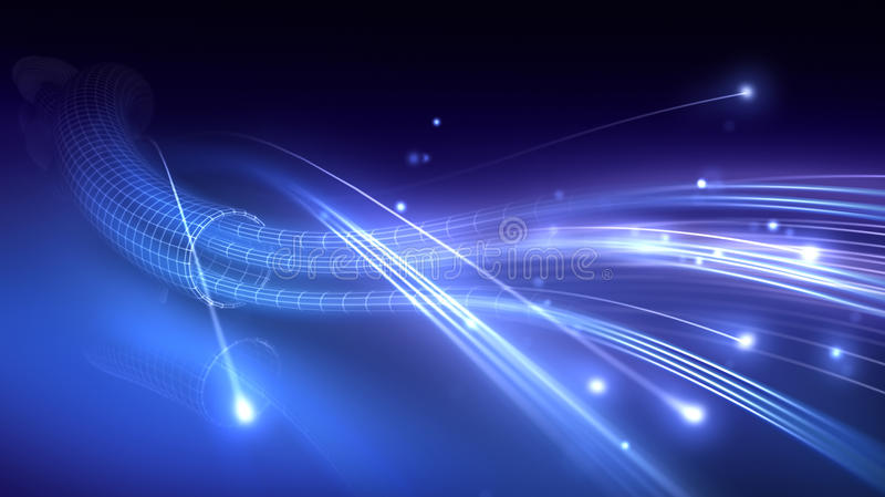 Оптическое волокно бесплатная иллюстрация