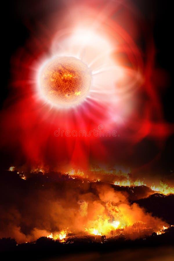 Опустошительность солнечной вспышки бесплатная иллюстрация