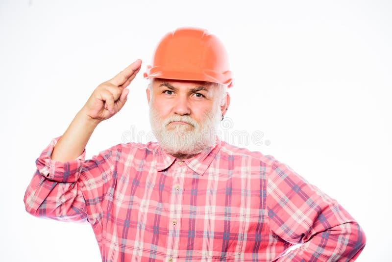 Опытный инженер Ремонтировать или восстанавливать Улучшение дома E Шлем носки инженера человека бородатый стоковая фотография rf