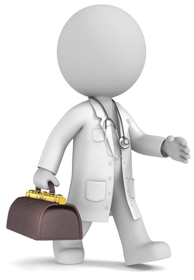 Опытный доктор. бесплатная иллюстрация